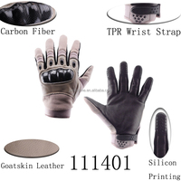 Hot Style Cool Outdoor Sports Full finger Military Tactical Motorcycle Gloves carbon fiber protective