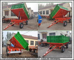7CX-5 farm tractor 3 side tipping trailer high hurdles with CE