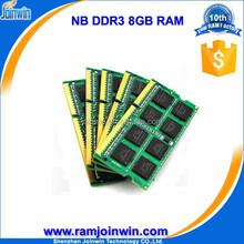 Retail and online ETT chips ram memory 512mbx8 sodimm ddr3 8gb 1600
