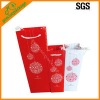Christmas red wine paper bag