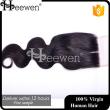 Alibaba New Products Human Hair Body Wave Lace Front Closure,4*4 Lace Closure Indian Body Wave Hair