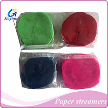 party using crepe streamer