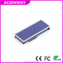 easy twist purple aluminum cool design usb stick