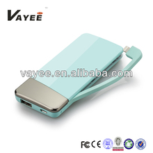 5500mAh portable power bank for SAMSUNG/HUAWEI/BLACKBERRY