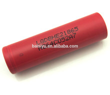 High quality aa/aaa li-ion battery 18650 LG HE2 rechargeable battery