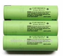 cgr18650af panasonic li-ion battery 3.6v / CGR18650CG 3.6V 2250mAh battery cell