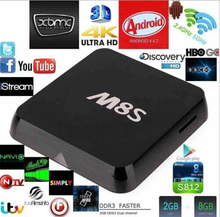 Newest and hot Internet tv box M8s with Antenna Android 4.4 Quad Core RK3188T TV BOX 2g 16g Built-in Bluetooth M8S tv box