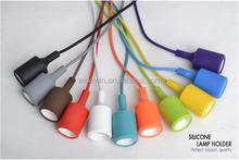 Color Incandescent/Filament/LED Bulb pendant Lamp colorful lamp holder