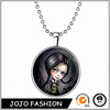 Halloween promotional gift girl necklace, glow in the dark necklace/