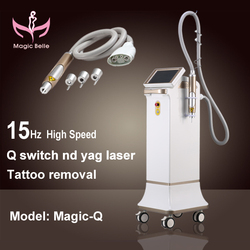 Brighter shopping!laser machine for skin/15Hz High Speed Q switched nd yag laser/yag laser tattoo removal machine