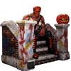 Life-size Halloween pumpkin statue/outdoor halloween sculpture/life-size fiberglass statues
