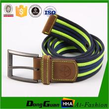 Fashion Stripe Sport Woven Fabric Webbing Canvas Belt