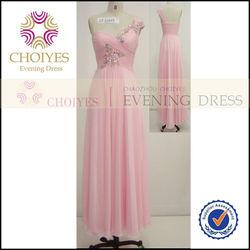 CY50339 Long Pink popular Evening Party Dress Patterns School Girls Sex Photo