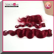 XBL New fashion best quality wholesale virgin brazilian red human hair weaving