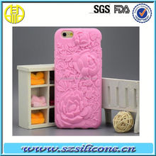 dual protective silicone sublimation mobile phone rose case