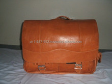 Genuine cow brown leather briefcase leather bag