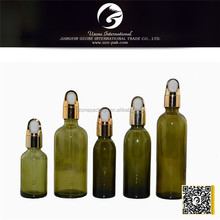 amber color bottle glass for cosmetic packaging