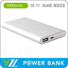 5V 1A 4000mah Power Bank Credit Card Size for Smartphone 2015