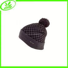 Jacquard acrylic cap warm men winter knitting cap