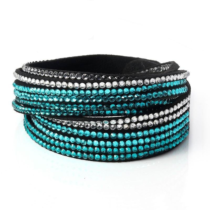 Fashionable-Adjustable-Button-Mix-color-Crystal-Wrap-Leather-Rhinestone-Bracelet (1)