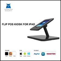 Flip design android tablet pos stand system terminal for iSO, Andriod, Windows