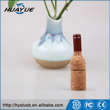Flash Memory 1GB 2GB 4GB 8GB Red Wine Bottle Wood Material U Disk