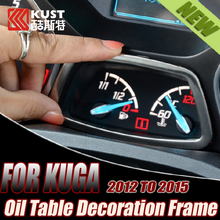 KUST Stainless Steel Oil Table Decoration Frame For Kug 3 For Ford Car Temperature Table Frame For Kug a 2012 To 2015 For Escape