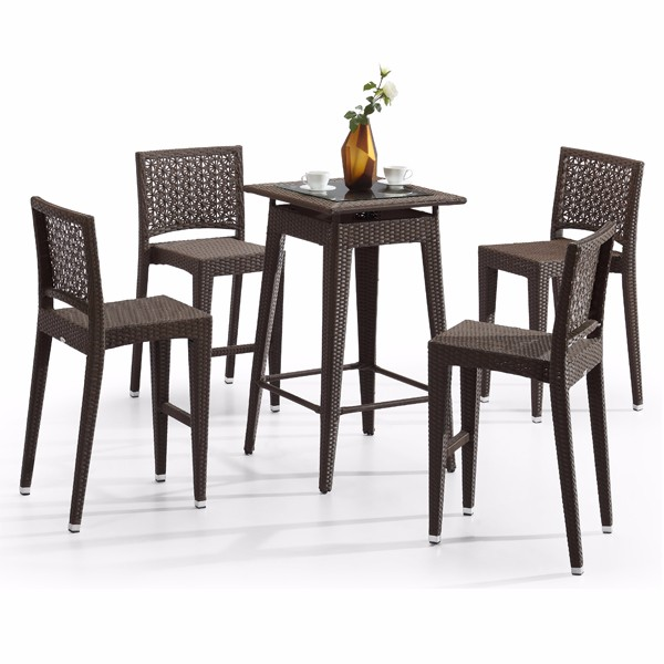 New Design Bar And Chairs Counter Price Black Pub