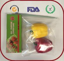 resealable zipper poly food grade plastic bag