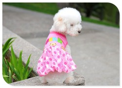 Fashion Design Cheap Wholesale Dog Clothes/pet grooming/dog cute skirt
