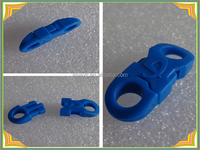 small type blue plastic reversible rope buckle for bag