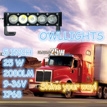 New products!! OEM easy for fit 4x4 automobile offroad 6 inch 25w single row slim led light bar with CE ROHS