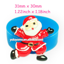 JYL114 Santa Claus Silicone Mold Christmas Mold Fondant Cupcake Topper Polymer Clay Candles Cabochon Molds