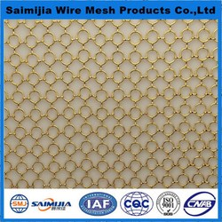 Economic new coming architecture decoration metal ring mesh