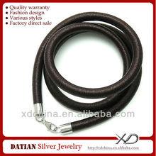 Xd MSD020 5.0 мм строка завернутый резиновый шнуры с 925 стерлингового серебра омар черный резиновый ожерелье шнур