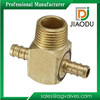 Brass Sanitary Fittings Brass Hose Pex Tee Barbed Male Fitting
