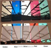 Mirror Color electroplate 0.3mm Thickness 9H Tempered Glass Screen Protector For iPhone 6