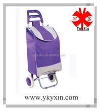 2015 YX-6001 Hot sale portable shopping trolley /vegetable shopping trolley /foldable polyester shopping trolley bag