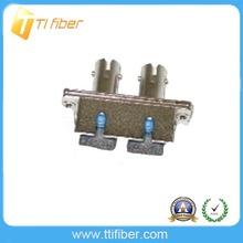 Metal SC to ST Duplex Fiber Adaptor