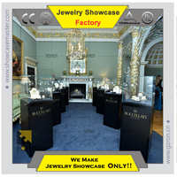 Glass jewelry display boutique cabinet for jewelry shop interior design