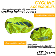 High Visibility fluorescent colour reflective lightweight water resistant Cycle helmet covers