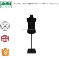 Decorative black velvet male mannequins, wholesale mannequins, flexible foam mannequins with metal stands