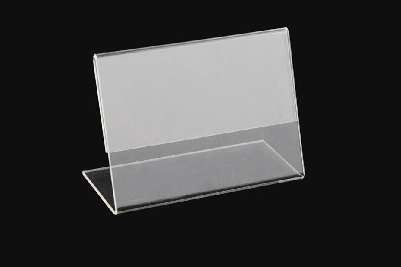 factory wholesale small acrylic card holder/cheap price clear acrylic tent card holder