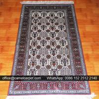 handmade indian geometric black and white rug
