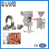 Pneumatic sausage filler connect with sausage clipper machine