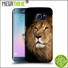 Mobile Phone Cases for Samsung S6 Customized Printing Rubber GEL Cases For Galaxy S6 S5 Wild Animal Lion