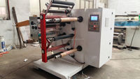 Aluminum foil slitting and rewinding machine,paper /pp/pvc film slitting and rewinding