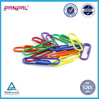 100pcs top quality home&office usage colorful metal plastic coated paper clip
