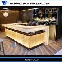 2015 Hot Sale Acrylic Solid Surface Modern Home Mini Bar Counter Design For Sale,Led Bar Counter Gorgeous Design,Bar