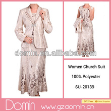 Fashionable Ladies Church Suits Breathable Women Suits 2014